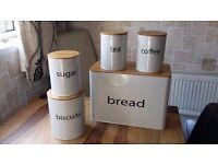 bread bin tea coffee sugar eta