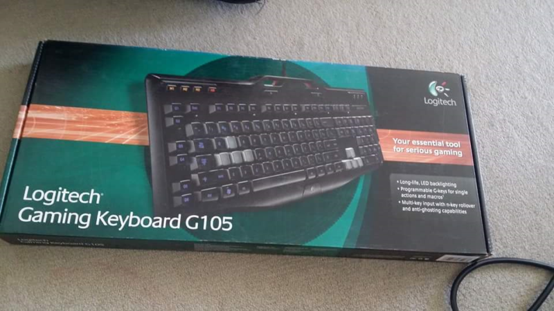 brand new Logitech gaming keyboard G105 ( [price is fixed