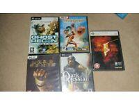 PC Games. Ghost Recon, Titan Quest, Dead Space, Dark Messiah, Resident Evil Job Lot