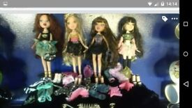Huge selection of Bratz dolls and accessories