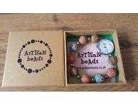 Artisan Beads Watch/Bracelet Brand new with box (Ideal Christmas Present)