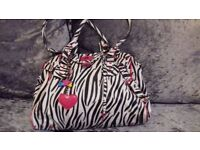 Stunning Brand New LYDC By Anna Smith Zebra Shoulder Bag