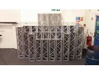 aluminium truss quads truss for sale 1m 2m 1.25m 1.5m with top plates fixed 300x300