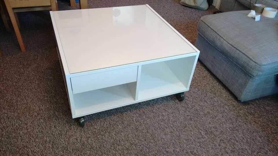 Square Coffee Table With Wheels In Lichfield Staffordshire Gumtree