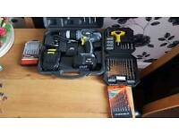 18v drill with drill bits