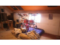 1980s 10 Piece premier elite drum set
