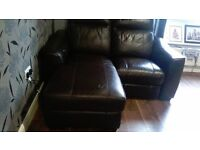 LARGE LEATHER SOFAS BOTH ECLECTRICAL RECLINERS ONE HAS CHAISE NO OFFERS