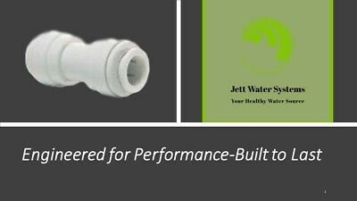 John Guest Ro Straight Union Connector Water Fitting 14 Qc X 14 Qc