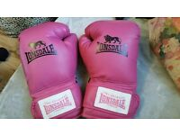 Lonsdale Leather Club Pink Boxing Gloves