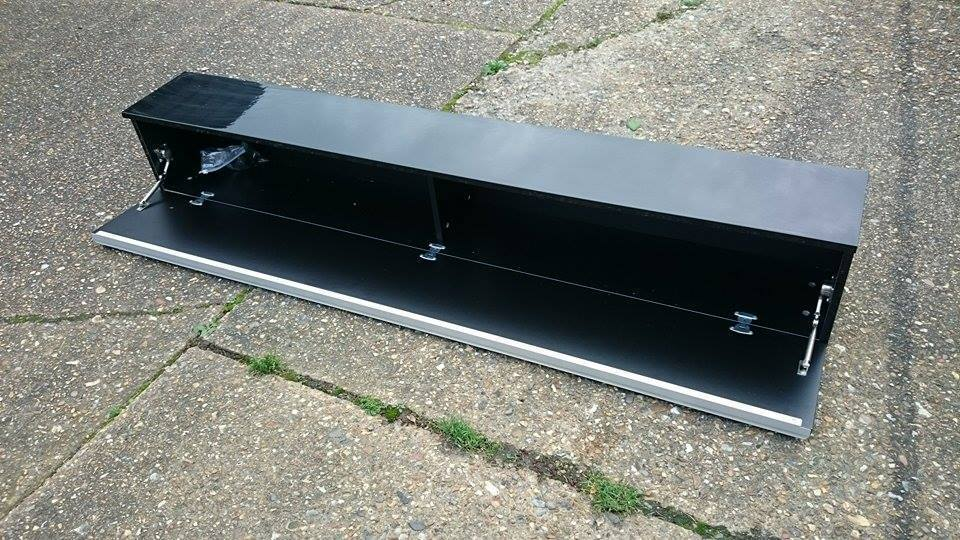 Ikea Besta Burs Black High Gloss Large Wall Unit Shelf Dvd