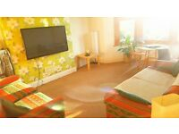 Sunny attic queen size unfurnished bedroom for rent