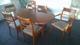 good quality table and six chairs