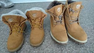His and her timberlands