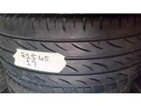 tyre 225/45/17 very good tread £20