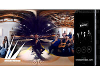 Get a 360 virtual reality (VR) music video for free?