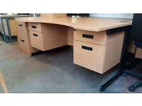 Modern 4 drawer lockable desks