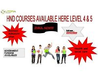 HND COURSES AVAILABLE NOW!!!