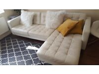 Ikea Landskrona Leather L shape corner sofa chesterfield