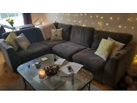 Right hand L Shape Sofa - Slate Grey - Excellent condition