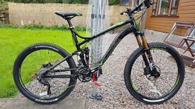 Trek Fuel 9 top spec, dual suspension mountain bike as new road use only.