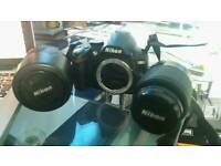 Nikon D3000 DSLR Camera for Sale with Case, 2 Lenses and Accessories