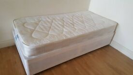 Single bed (base+mattress) excellent condition