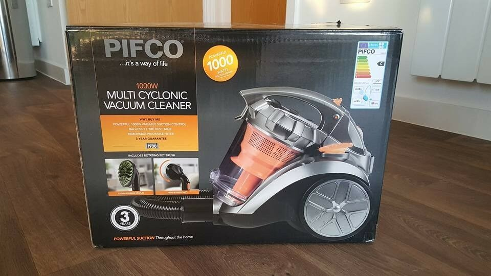 Brand New, fully packaged PIFCO 1000W Multi Cyclonic