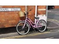 Ladies bike beach cruiser pink