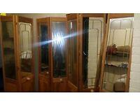 Wardrobe Doors sliding wooden with Mirrors