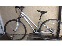 Women's Moongoose Crossway hybrid bike size small
