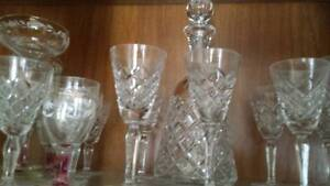 Crystal Liquor Glasses and Crystal bottle Yowie Bay Sutherland Area Preview