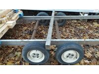 twin axel trailer chassis