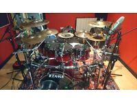 Drum kit Tama Superstar Custom in Scarlet Fade