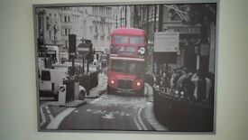 IKEA London Bus Framed Canvas (Large)