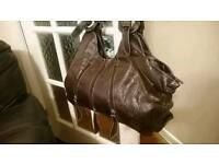 Women bag handbag brown leather for dress evening party summer