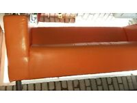 Leather IKEA Klippan 2 seater sofa