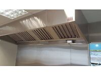 Stainless Steel Commercial Kitchen Canopy Hood Extraction System Supply & Fitting Service in London