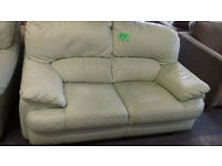 LEATHER Sofa / Settee Very Good Condition....... local delivery....