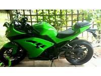 Kawasaki Ninja 300 Motorbike Reg 2014
