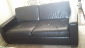 Brown leather 3 & 2 seater sofa's originally from Next