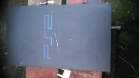 Black PS2 games Console + 19 Inch flat screen TV