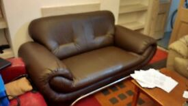 **Brown Two Seater Sofa-Local Delivery Available**