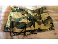 "Combat mini shorts by BENCH, size 26"" waist"