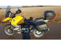 Lovely condition BMW R1150 GS, in classic BMW Yellow, full hard luggage,heated grips with shields
