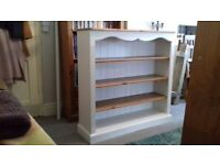 Large country pine farmhouse bookcase