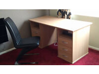 Brand New Desk and Leather Chair