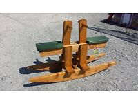 50% OFF - HALF PRICE - WOODEN KIDS GARDEN TOYS SEE-SAW WISHING WELLS & ROCKING HORSES