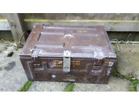 Vintage Army Military Metal 84mm Ammo Box Crate/ Tool Strong Box
