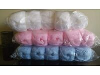 Double knit wool by Woolcraft. 3 x full packs 10 x 100grm balls per pack.