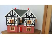 Large Double Fronted Mock Tudor Style MDF Dolls House & Furniture Items